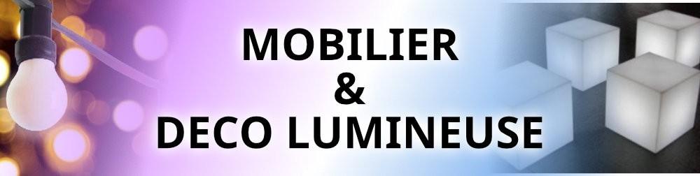 location mobilier et déco lumineuse à Toulouse, bar, cubes, lampes haute, guirlandes lumineuses pro